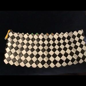 Handbags - Nahum Olin black and white clutch bag